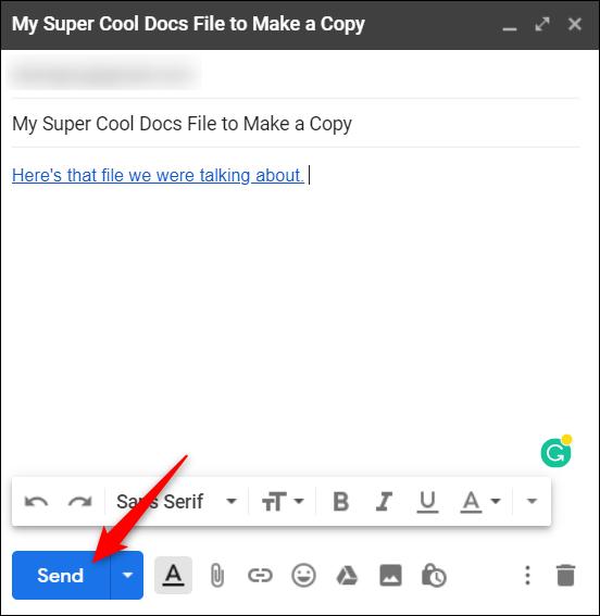 """Click """"Send."""""""
