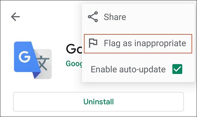 Haga clic en el menú de tres puntos para ver los detalles de su aplicación en Google Play Store