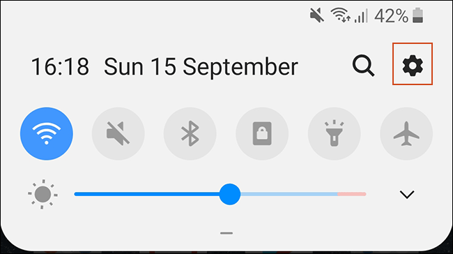 Access your Android settings from your notifications shade