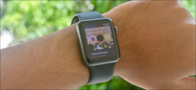 Apple Watch showing new App Store app