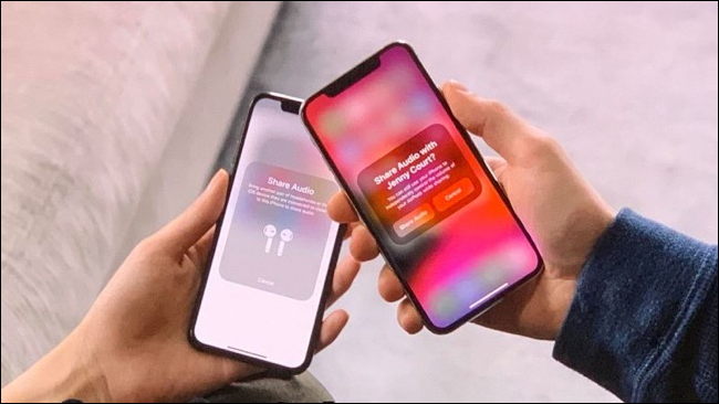 Audio Sharing popup for AirPods in iOS 13