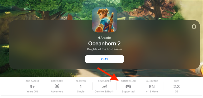 Check if an Apple Arcade app supports controllers