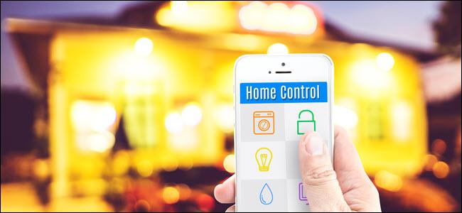A hand using smarthome controls on a smarthphone.