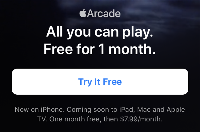 Apple Arcade Trial Period