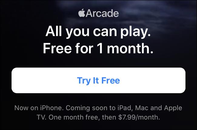 Apple Arcade Trial Period