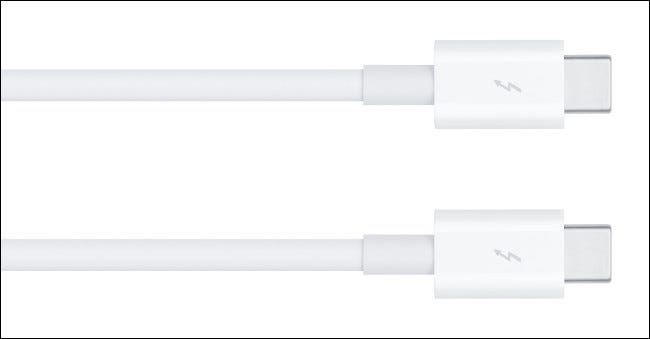 Two Apple Thunderbolt 3 cables.