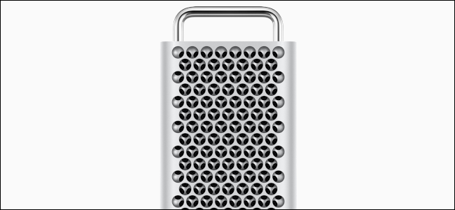 New Mac Pro chassis on a grey background