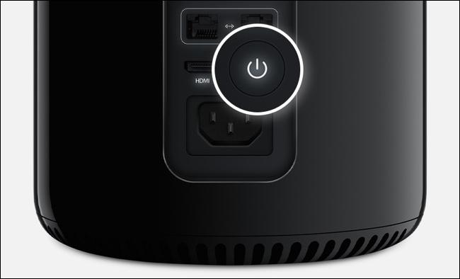 Power button on Mac Pro