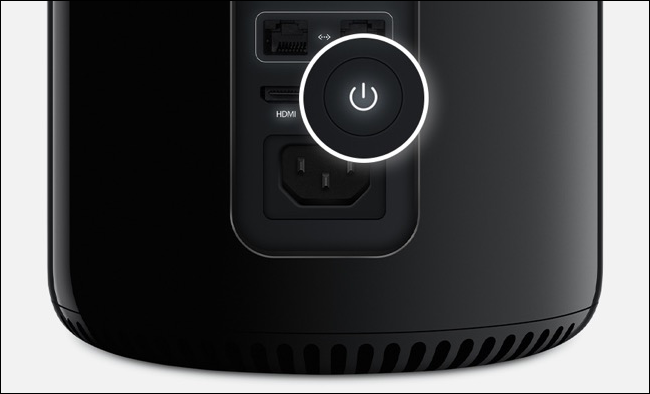 Power button on Mac Pro