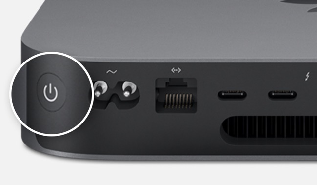 Power button on Mac mini
