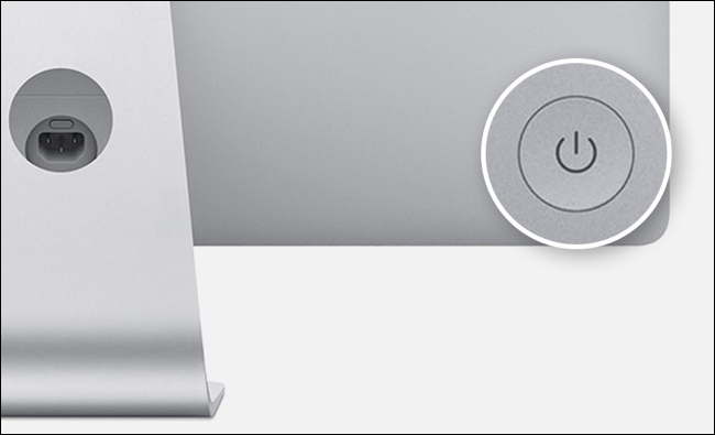 Power button on iMac