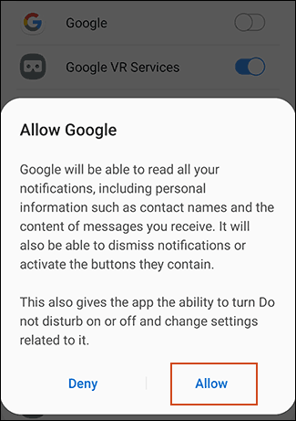 "Tap ""Allow."""