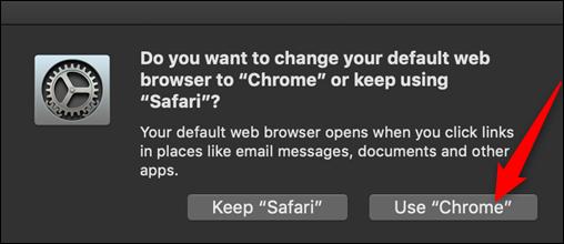 "Haz clic en ""Usar Chrome""."
