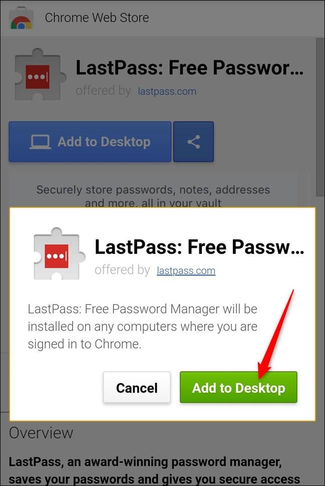 "Click ""Add to desktop"" again."