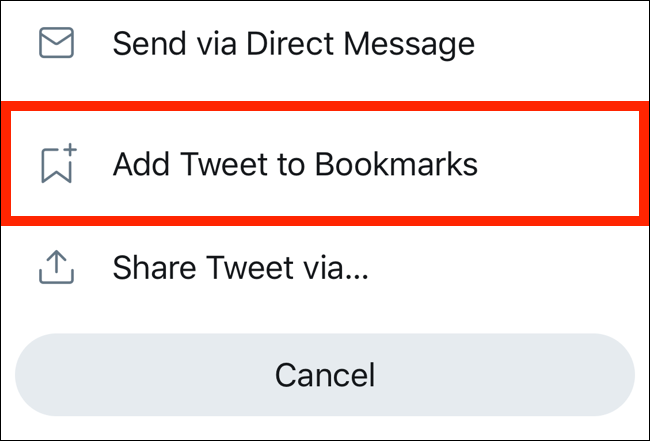 Tap on Add to Bookmarks