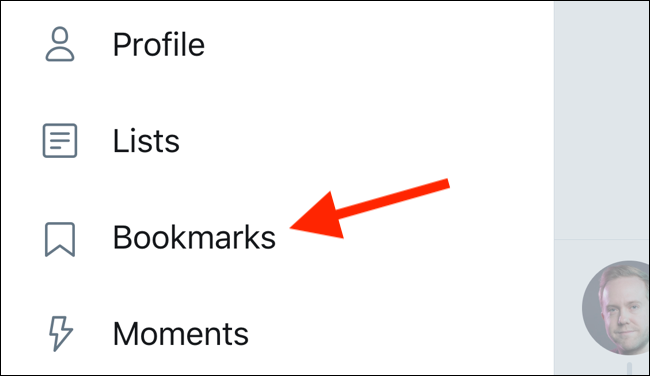 Tap on Bookmarks menu in the sidebar