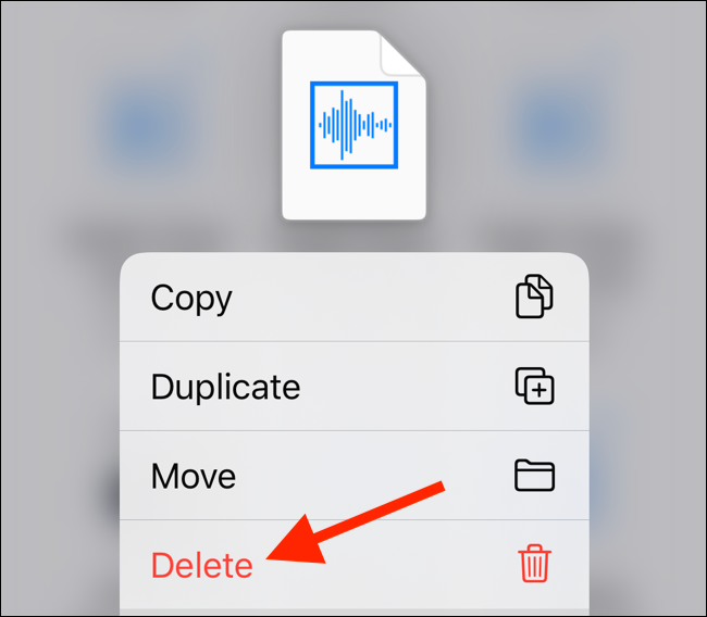 Tap Delete The menu to delete the downloaded file