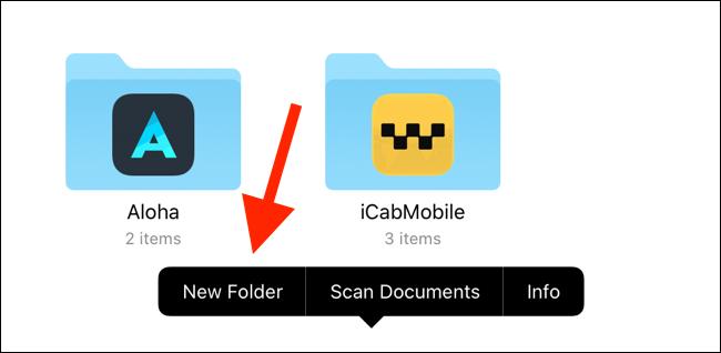 "Tap ""New Folder."""