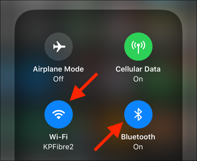 Tap on the Wi-Fi or Bluetooth toggles to expland the panel