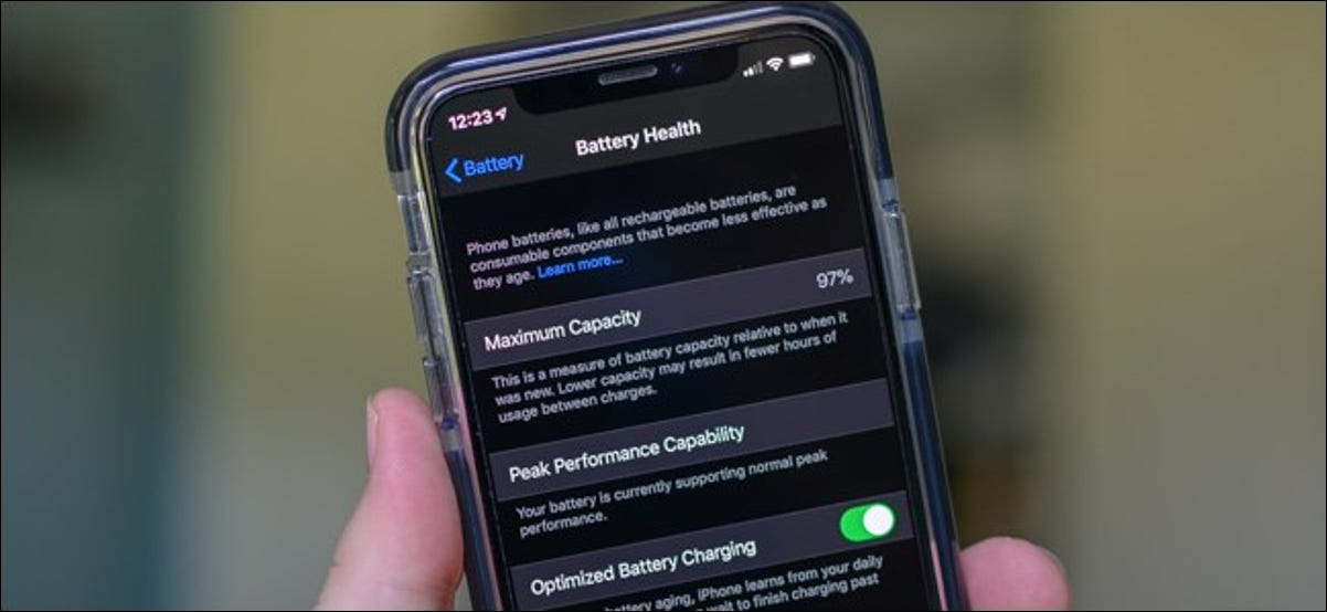 Apple iPhone Battery Health Menu
