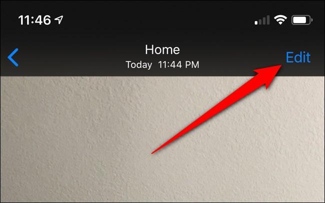 Apple iPhone Click Edit Button