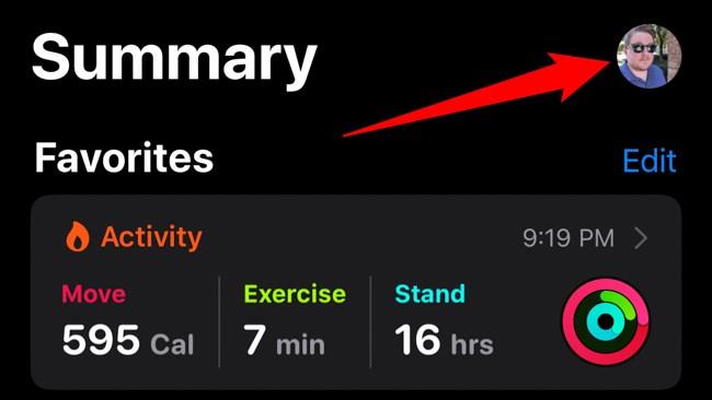 Apple iPhone Health App Select Avatar