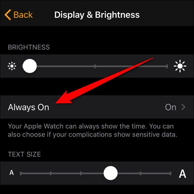 Apple iPhone Watch App Tap Always On