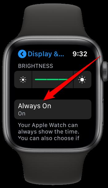 Apple Watch Tap Always On