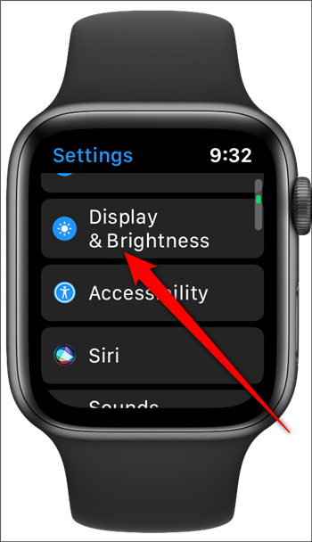 Apple Watch Tap Display & Brightness