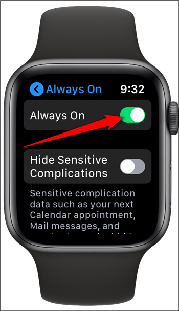 Apple Watch Toggle Off Always On