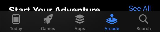 iOS 13 App Store Tab Bar