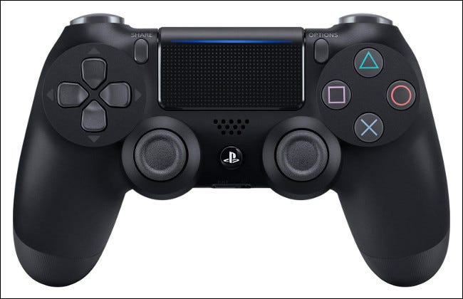 A Sony DualShock 4 Controller.