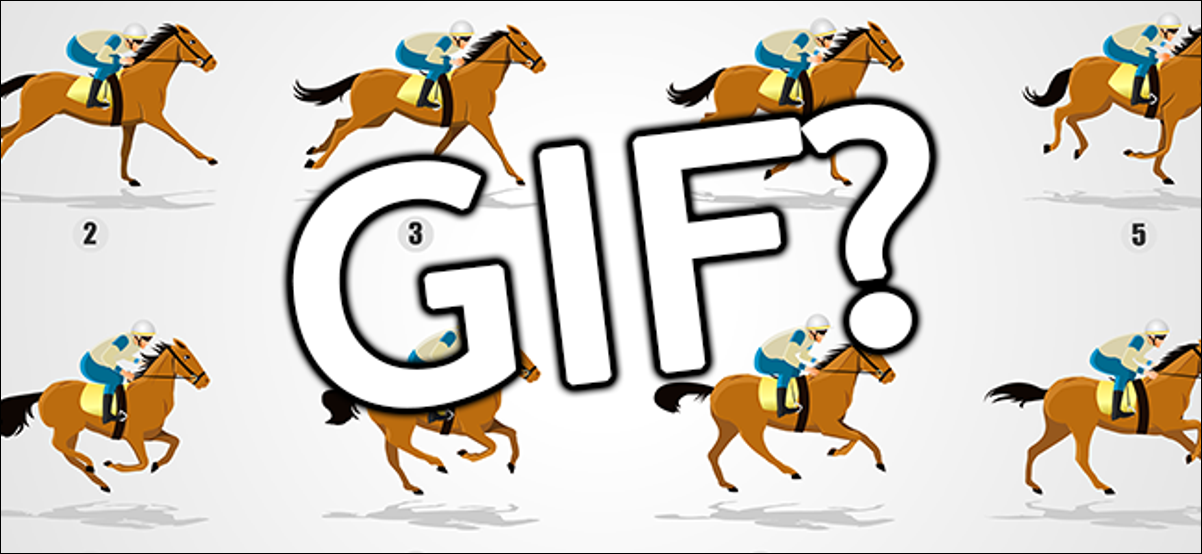 GIF banner featuring individual frames of a horse's running animation.