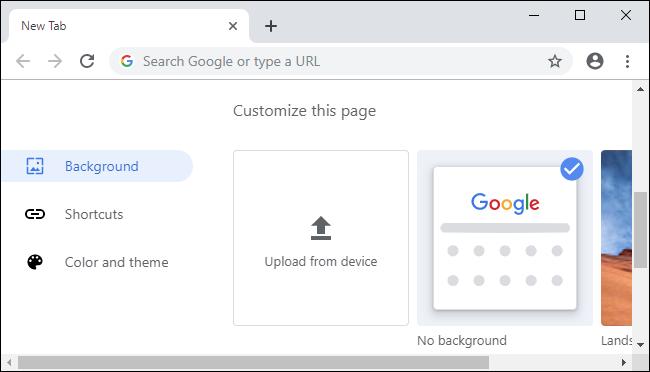 Chrome 77's new customization options.
