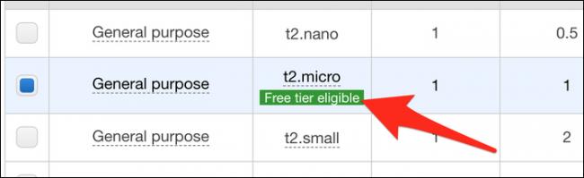 "Select ""t2.micro."""
