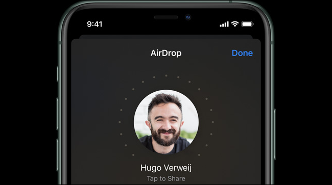 AirDrop on an iPhone 11 Pro.