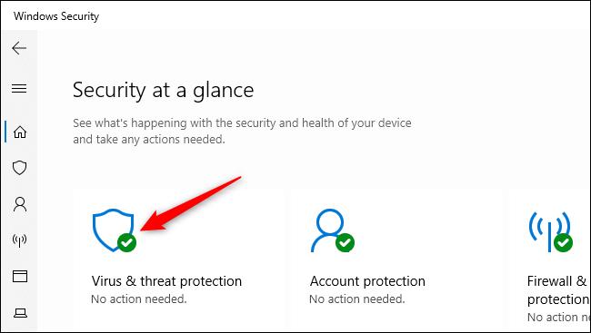 Abrir la configuración de protección contra virus y amenazas en Seguridad de Windows.