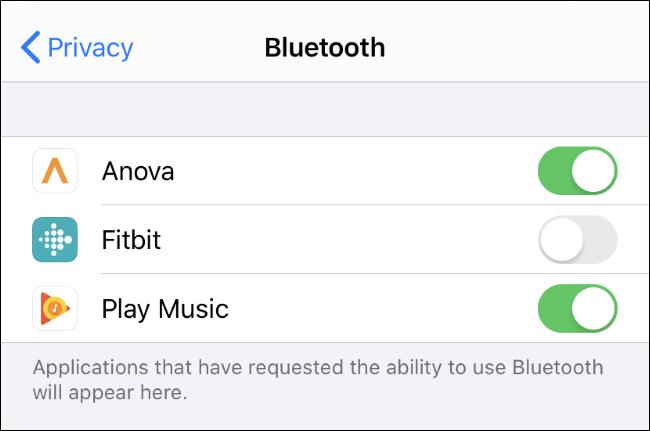Ver y controlar qué aplicaciones pueden usar Bluetooth en un iPhone o iPad.