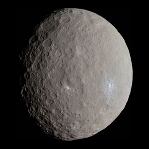 Ceres as seen by the Dawn space probe
