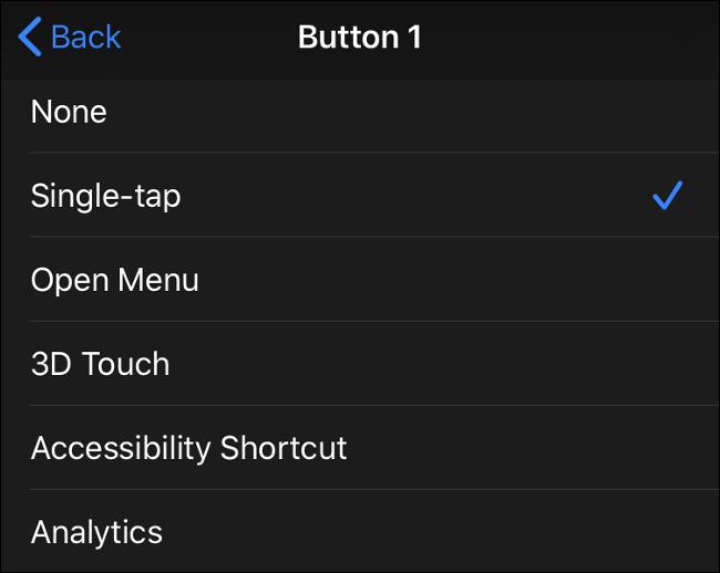 Entradas de botón del mouse disponibles en iOS 13 (iPadOS 13)