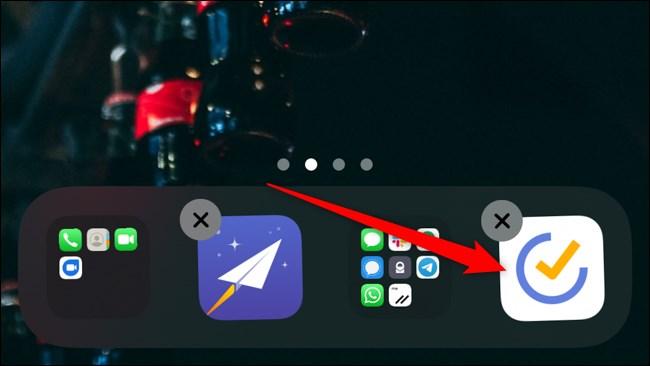 iOS iPadOS Long Press Move App