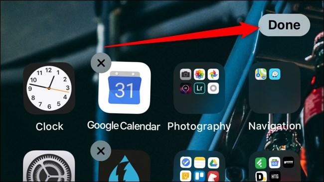 iOS iPadOS Toque Listo para guardar
