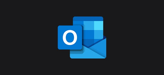 Microsoft Outlook Logo with Dark Background