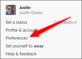 Slack for Desktop Click Preferences