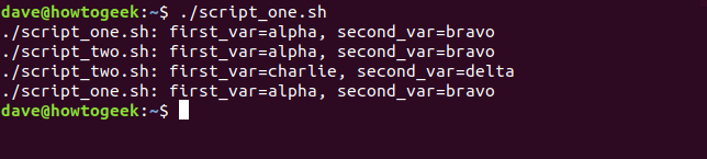 """./script_one.sh"" in a terminal window."