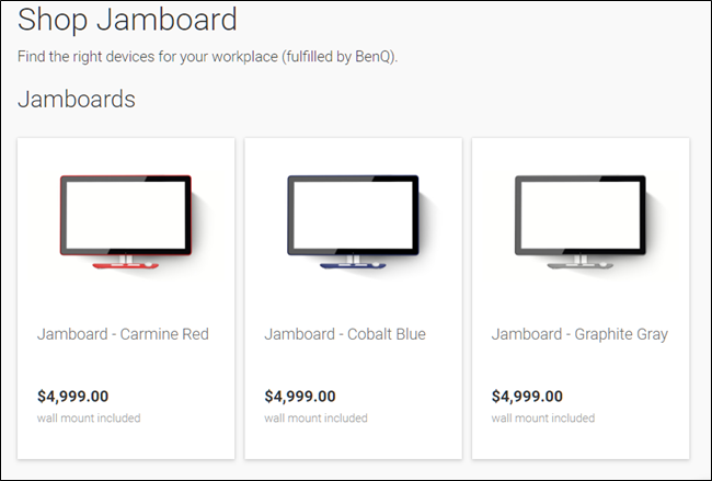 Shop for Jamboard.