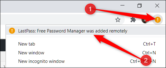 Click on the notification that appears when you open Chrome on your desktop, and then click the prompt at the top.