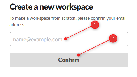The textbox to enter your email, and the Confirm button.