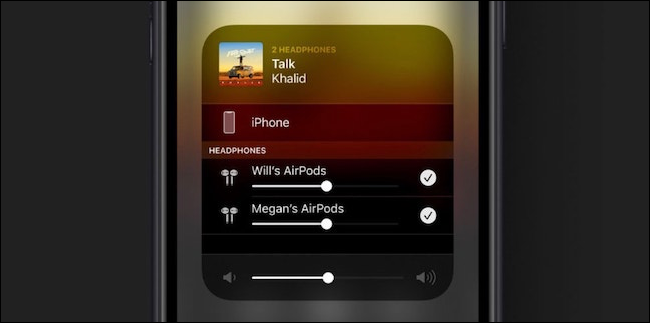 AirPods Audio Sharing in iOS 13 AirPlay screen