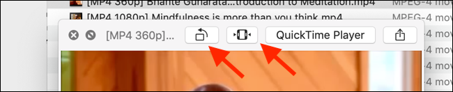 Click on the Trim button from a video in Quick Look mode
